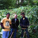 MIT Students Attack Invasives Along the Blackwell Path 1